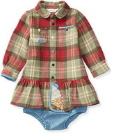 Ralph Lauren Plaid Cotton Dress & Bloomer