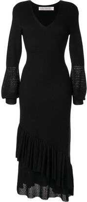 Victoria Beckham V-neck ruffle dress