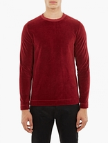 Our Legacy Red Long-sleeved Velour T-shirt