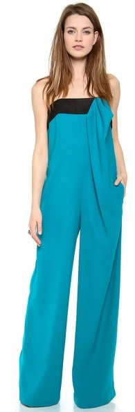 Thakoon Strapless Bow Front Jumpsuit