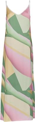 Cocoove Rhaea Slip Maxi Dress In Patisserie Print