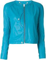 Diesel zip up jacket - women - Lamb Skin - XS