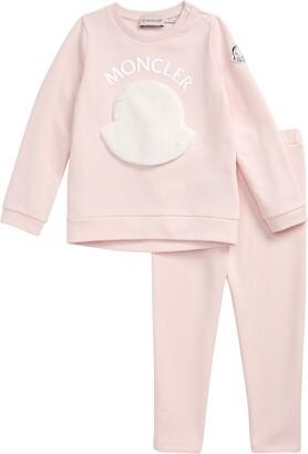 Moncler Kids' Faux Fur Logo Sweatshirt & Pants Set