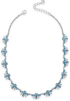 Charter Club Clear and Colored Crystal Collar Necklace, Created for Macy's