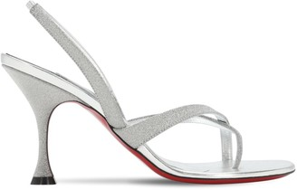Christian Louboutin 85mm Taralita Glittered Thong Sandals