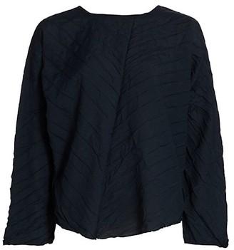 Issey Miyake Tectorum Pleated Crinkle Top
