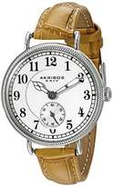 Akribos XXIV Women's AK828SSBR Quartz Movement Watch with Silver Dial and Cognac Leather Strap