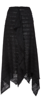 Proenza Schouler Open Weave Tweed Skirt with Handkerchief Hem