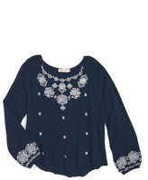 Miss Me Girl's Embroidered Peasant Top