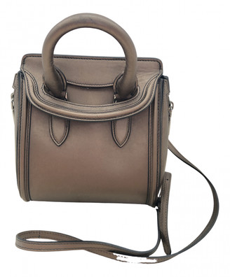 Alexander McQueen Heroine Metallic Leather Handbags