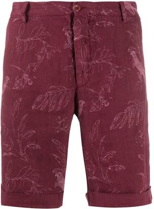 Etro Foliage Print Bermuda Shorts
