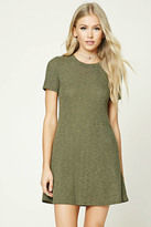 Forever 21 FOREVER 21+ Ribbed Knit T-Shirt Dress