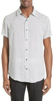 Armani Jeans Men's Dash Stripe Print Sport Shirt