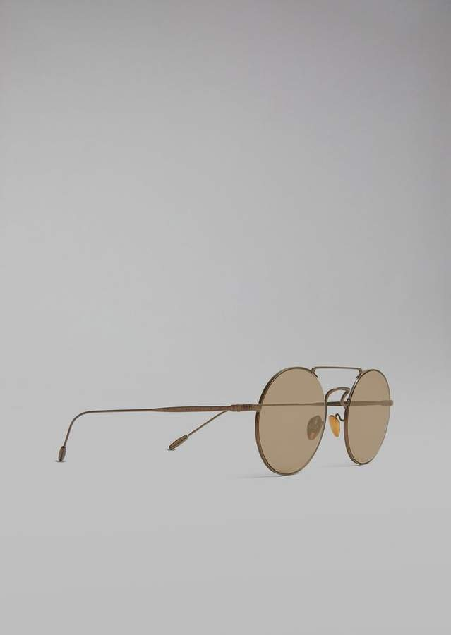 Giorgio Armani Catwalk Sunglasses With Rounded Lenses