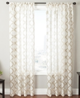 "CLOSEOUT! Softline Sheer Samara Burnout 55"" x 95"" Panel"