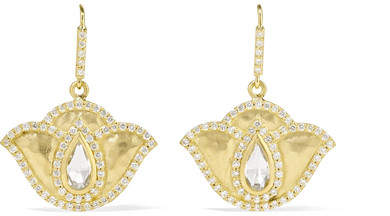 Amrapali Thamarai Lotus 18-karat Gold, Topaz And Diamond Earrings