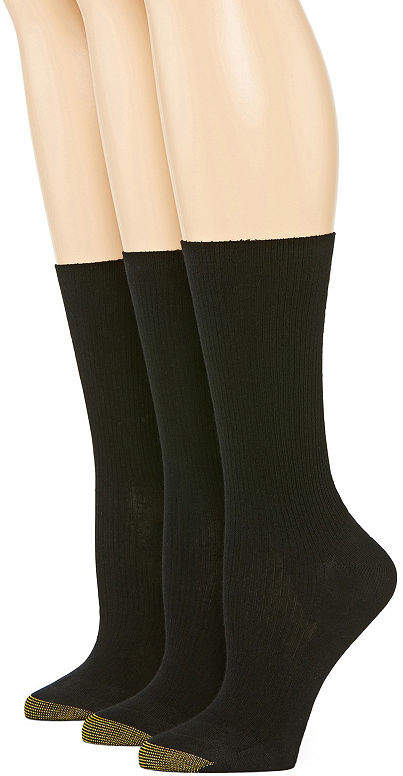 Gold Toe Wellness 2 Pair Crew Socks - Womens