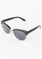Missy Empire Sasa Black Half Frame Sunglasses