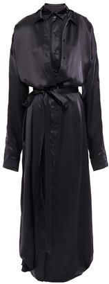 Y/Project Oversized Layered Silk-satin Maxi Shirt Dress