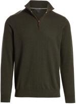 Saks Fifth Avenue Quarter-Zip Cashmere Sweater