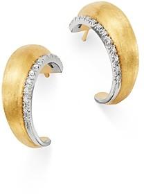 Marco Bicego 18K Yellow & White Gold Lucia Diamond Hoop Earrings