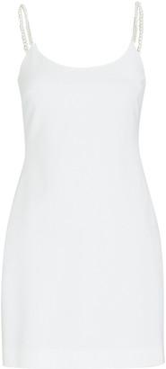 Cushnie Crystal Strap Crepe Mini Dress