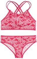 Vineyard Vines Flamingo Print Reversible Two-Piece Halter Swimsuit