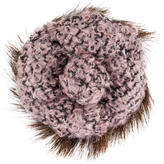 Chanel Tweed Camellia Brooch