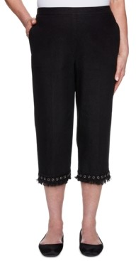 Alfred Dunner Checkmate Lace-Trim Capris