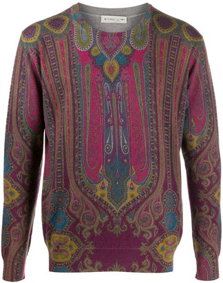 Etro Paisley Print Knit Jumper