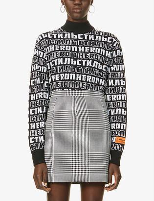 Heron Preston Logo-print wool-blend jumper