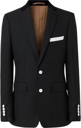 Burberry English Fit Velvet Collar Wool Tailored Jacket