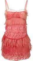 Giamba floral appliqué ruched dress - women - Polyester - 38