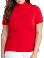 Lauren Ralph Lauren Plus Jersey Short-Sleeve Turtleneck Top