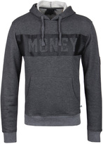 Money Dark Grey Marl Punched Out Hooded Sweatshirt