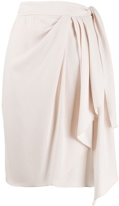 IRO Draped Straight Fit Skirt