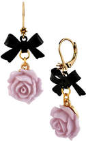 Betsey Johnson Flower and Bow Drop Earring