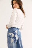 We The Free Down To Earth Patched Jeans at Free People Denim