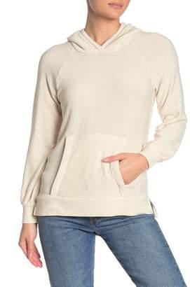 Chaser Bishop Sleeve Knit Pullover Hoodie
