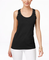 INC International Concepts Petite Lace-Up Tank Top, Only at Macy's
