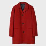 Paul Smith Men's Red Wool Houndstooth Top Coat