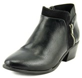 London Fog Fort Women Round Toe Leather Black Bootie.