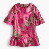 J.Crew Girls' drop-waist dress in pink floral