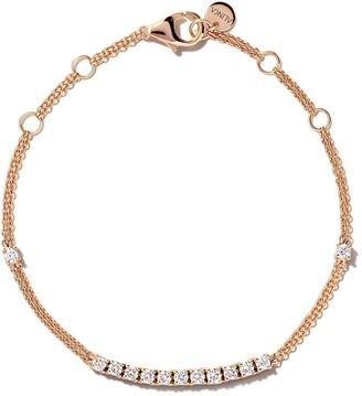 Riviera 18kt rose gold diamond bracelet