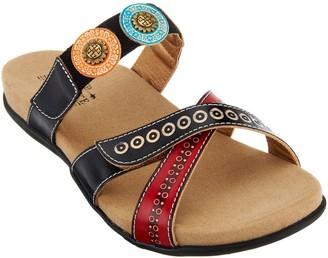 Spring Step L'Artiste Leather Slide Sandals - Glendora