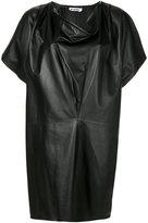 Jil Sander cowl neck dress - women - Lamb Skin - 38