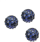 Effy Sapphire and Sterling Silver Ball Stud Earrings
