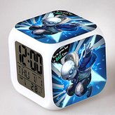 Enjoy Life : Cute Digital Multifunctional Alarm Clock With Glowing Led Lights and stickered Undertale , Good Gift For Your Kids , Comes With Bonuses. Part 2 (09)