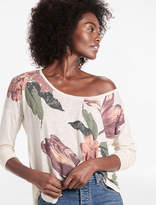Lucky Brand Floral Drop Shoulder Tee