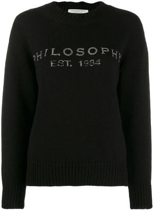 Philosophy di Lorenzo Serafini Embellished Logo Sweater